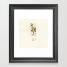 I'm not a banana-V Framed Art Print
