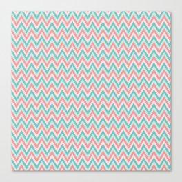 Pink & Blue Chevrons Canvas Print