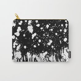 Black and White Splatter Paint  Carry-All Pouch