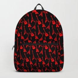 Heavy Metal Guitar Pattern (Red//Black) Backpack