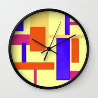 geo Wall Clocks featuring Geo by lillianhibiscus