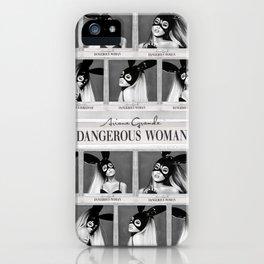 Dangerous Woman Drawings Design Pattern iPhone Case