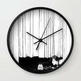 asc 536 - La mise en scène ( I'll be late tonight darling) Wall Clock