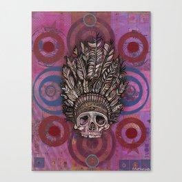 """Pink Indian Skull"" copyright Ray Stephenson 2013 Canvas Print"