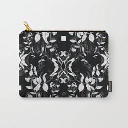 Black & White Sweet Peas Carry-All Pouch