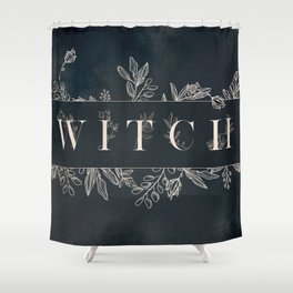 WITCH Mysterious Typography Design Shower Curtain