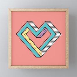 le coeur impossible (nº 2) Framed Mini Art Print