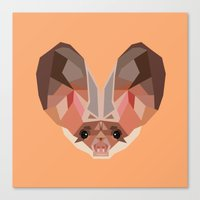 bat Canvas Prints featuring Bat by Alysha Dawn