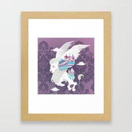 Flying Lion of Venice Framed Art Print