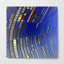 Big Blue Blocks Metal Print