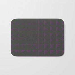 Futuristic technology with glow Bath Mat