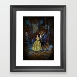 Haunted Beauty and the Beast by Topher Adam 2017 Framed Art Print