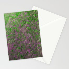 Green Purple Sand Stationery Cards