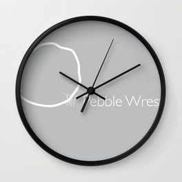 Pebble Wrestler Wall Clock