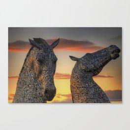 Kelpies of Scotland Canvas Print