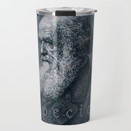 Species / Vintage portrait of Charles Darwin Travel Mug