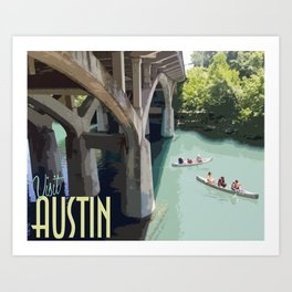 Outdoors in Austin Art Print
