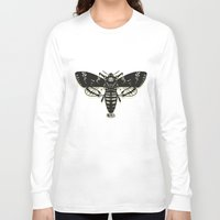 moth Long Sleeve T-shirts featuring Moth by Nick Rissmeyer