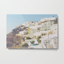 Santorini Island, Greece Metal Print
