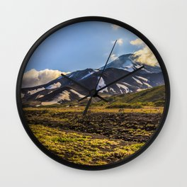 Looking at a Volcano Wall Clock
