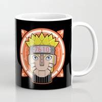 naruto Mugs featuring Mecha Naruto by Enrique Valles