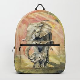 Mom and Baby Elephant Backpack