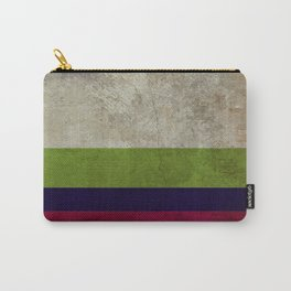 Linen Stripe Blue Stone Washed Carry-All Pouch