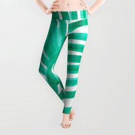 watercolor lines palm leaf 11 Leggings