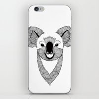 koala iPhone & iPod Skins featuring Koala by Art & Be