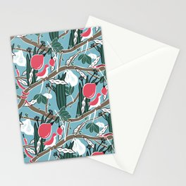Hiding Birds Pink Stationery Cards