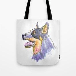 Hand Rendered Dog Tote Bag