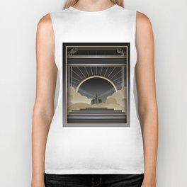 Art deco design V Biker Tank