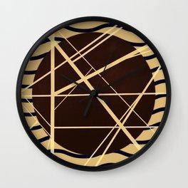 Crossroads - wavy graphic Wall Clock