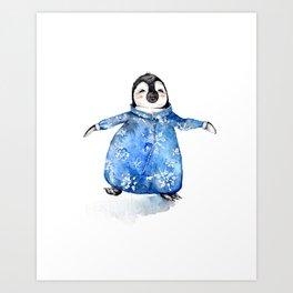 Baby Penguin in Onsie Art Print