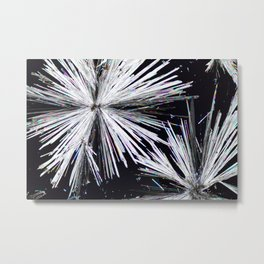 Cadmium Chloride Crystals Metal Print