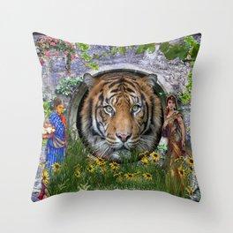 A wildlife, Bengal-tiger Throw Pillow