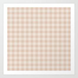 Gingham Pattern - Warm Neutral Art Print