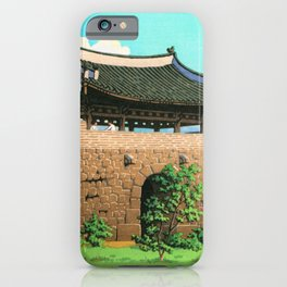 Kawase Hasui - Suweon Seomun, The Sequel Of Scenes From Korea - Digital Remastered Edition iPhone Case
