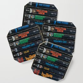 Stephen King Well-Worn Paperbacks Coaster