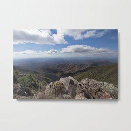 Brown's Peak Arizona Landscape - Four Peaks Metal Print