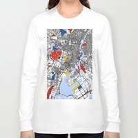 mondrian Long Sleeve T-shirts featuring Tokyo Mondrian by Mondrian Maps