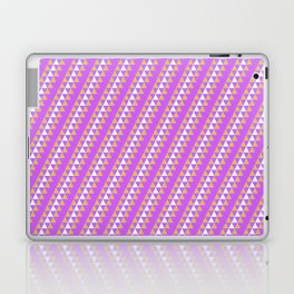 Geometrical neon pink orange triangles pattern Laptop & iPad Skin