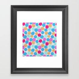 Rainbow Spots Circle Pattern Framed Art Print