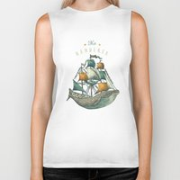 grey Biker Tanks featuring Whale | Petrol Grey by Seaside Spirit