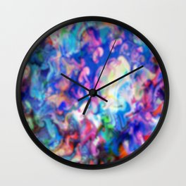 psychedelic color wash Wall Clock