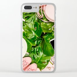 Beautiful flat lay with trendy accessories Clear iPhone Case