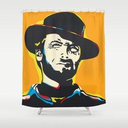 Clint Eastwood Pop Art Portrait Shower Curtain