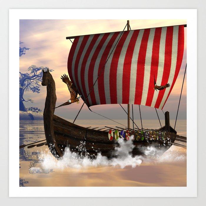 The  viking longship Kunstdrucke