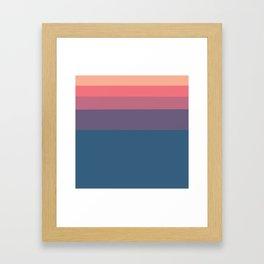 Geometrical orange pink violet blue minimalist stripes Framed Art Print