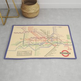 Vintage London Underground Map Rug